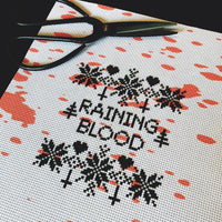 Blood Spatter Printed Cross Stitch Aida