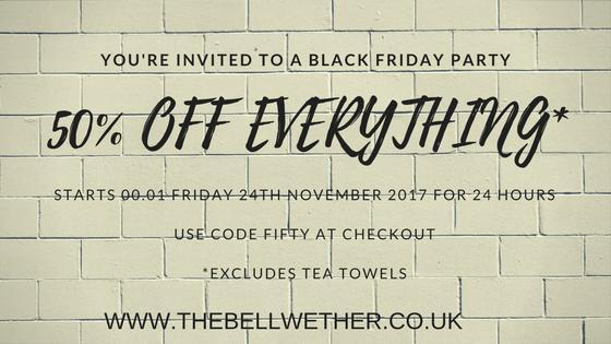 Black Friday At The Bellwether - 50% Off Everything!