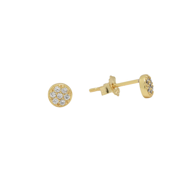 Tiny CZ Circle Pave Studs