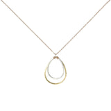 Double Brushed Teardrop Necklace