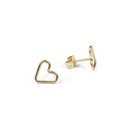 Heart Wirewrapped Studs