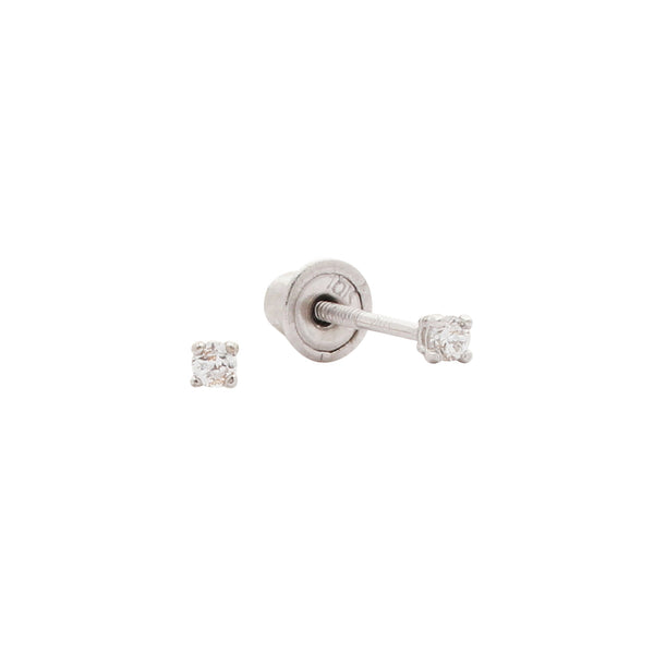 10k Solid Gold CZ Studs