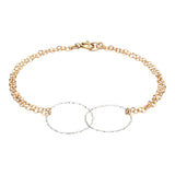 Double Diamond Cut Circles Bracelet