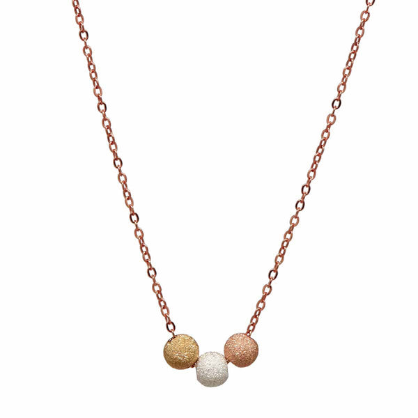 3-Tone Stardust Ball Necklace