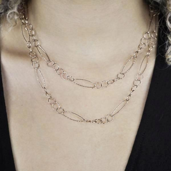 Multi-Interlocking Diamond Cut & Marquise Necklace