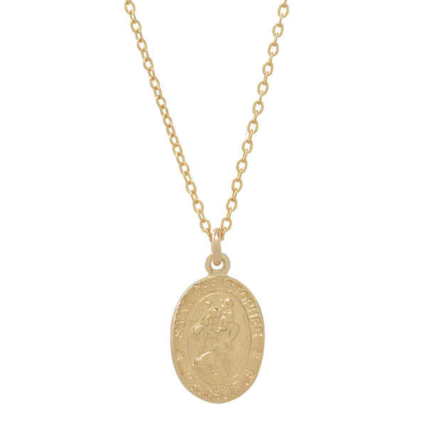 Saint Christopher Oval Necklace