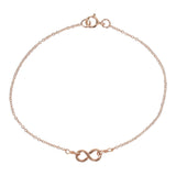 Tiny Infinity Bracelet on Thin Chain