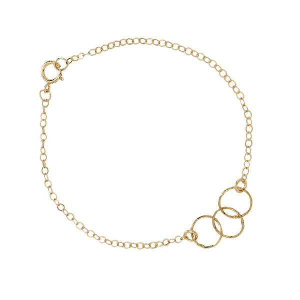 Tiny Triple Diamond Cut Circles Bracelet