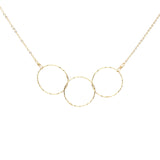 Triple Diamond Cut Circles Necklace
