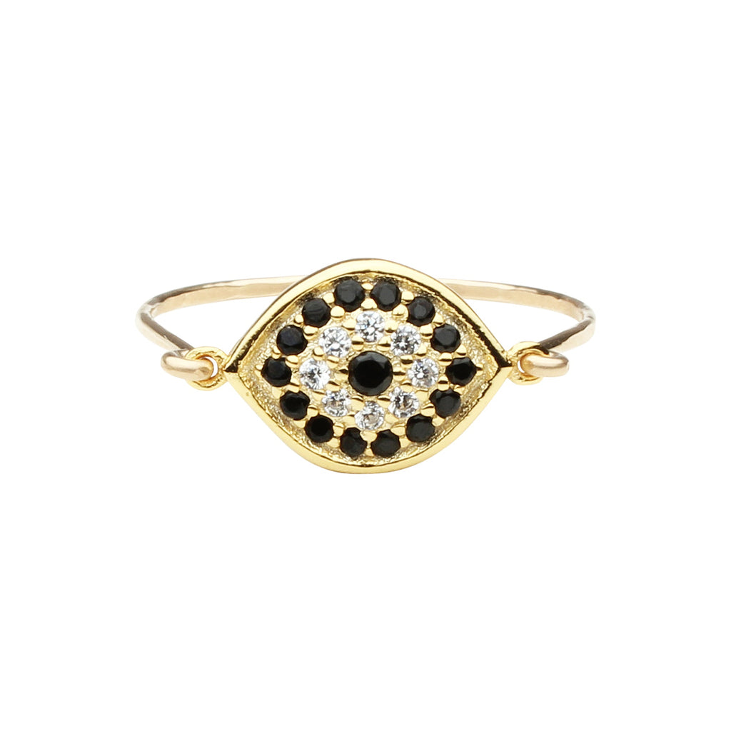 353eb6feb72194 CZ Black Evil Eye Ring | Ofina