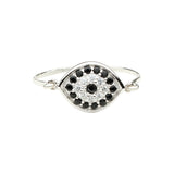 CZ Black Evil Eye Ring