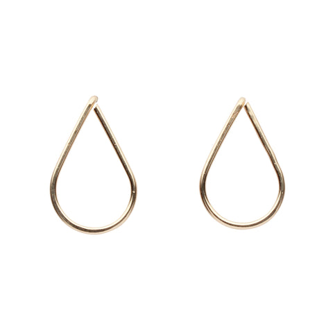 Teardrop Wirewrapped Studs