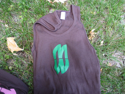 Girls Dope Logo Tank Brown/Green