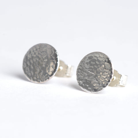 Silver lace studs