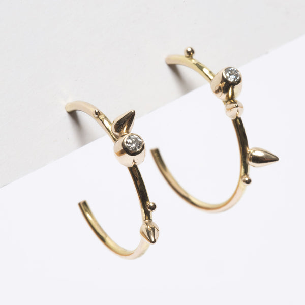 Spikes & Honey Pots Diamond Hoops