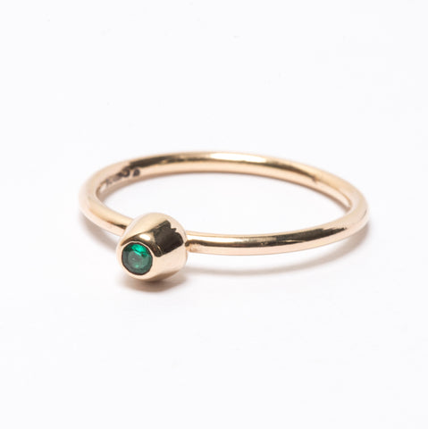 Emerald Small Honey Pot Ring