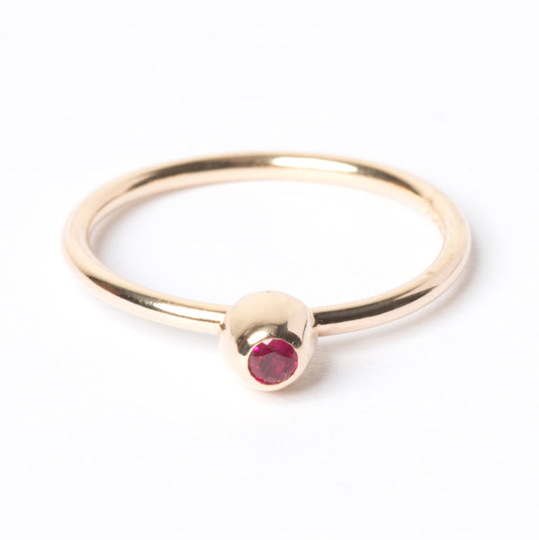 Ruby Small Honey Pot Ring