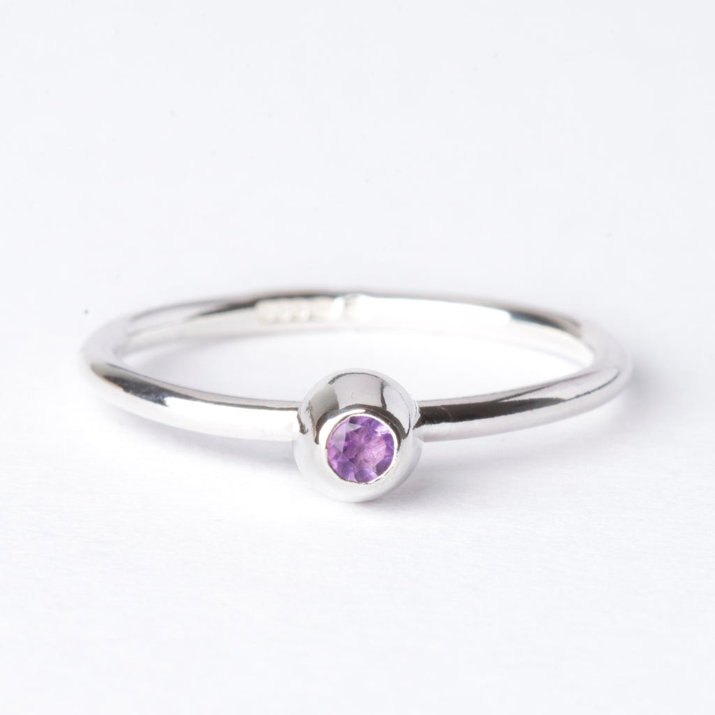 Amethyst Small Honey Pot Ring