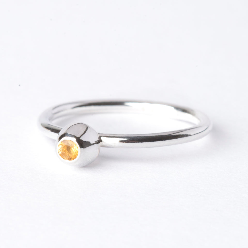 Citrine Small Honey Pot Ring