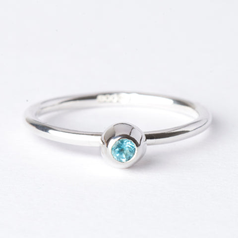 Swiss Blue Topaz Small Honey Pot Ring