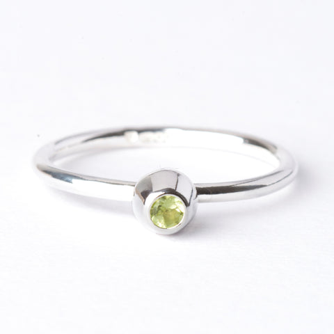 Peridot Small Honey Pot Ring