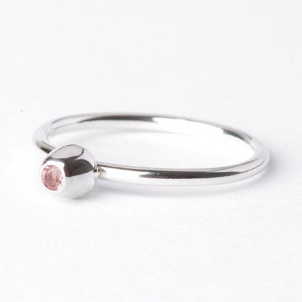 Pink Tourmaline Small Honey Pot Ring