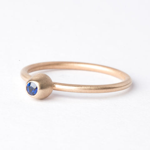 Sapphire Small Honey Pot Ring