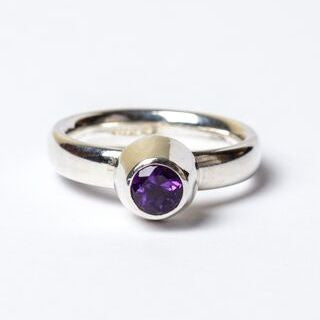 Amethyst Large Honey Pot Ring