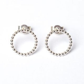 Silver Circle Studs