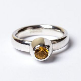 Citrine Large Honey Pot Ring