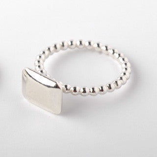 Baguette silver ring