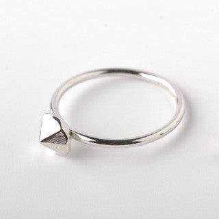 Pointy silver ring