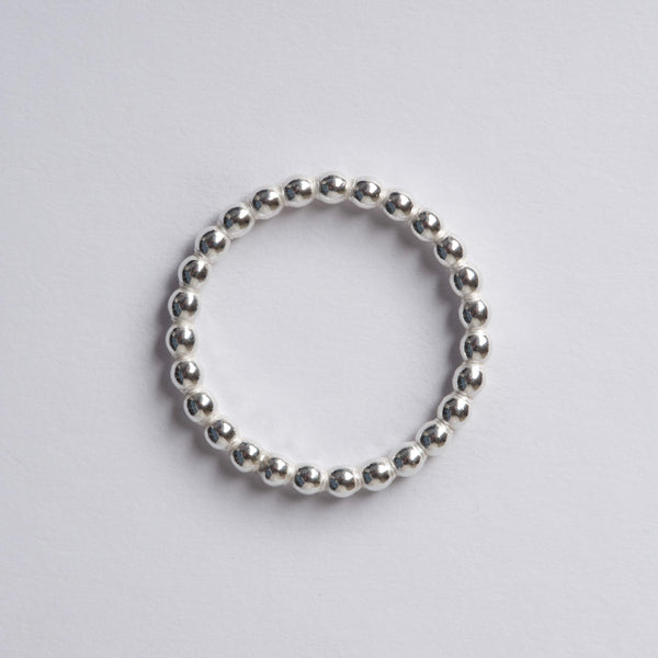 Large Silver Ball Rings