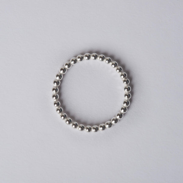 Small Silver Ball Rings