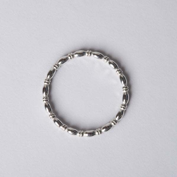 Small Silver Bamboo Rings