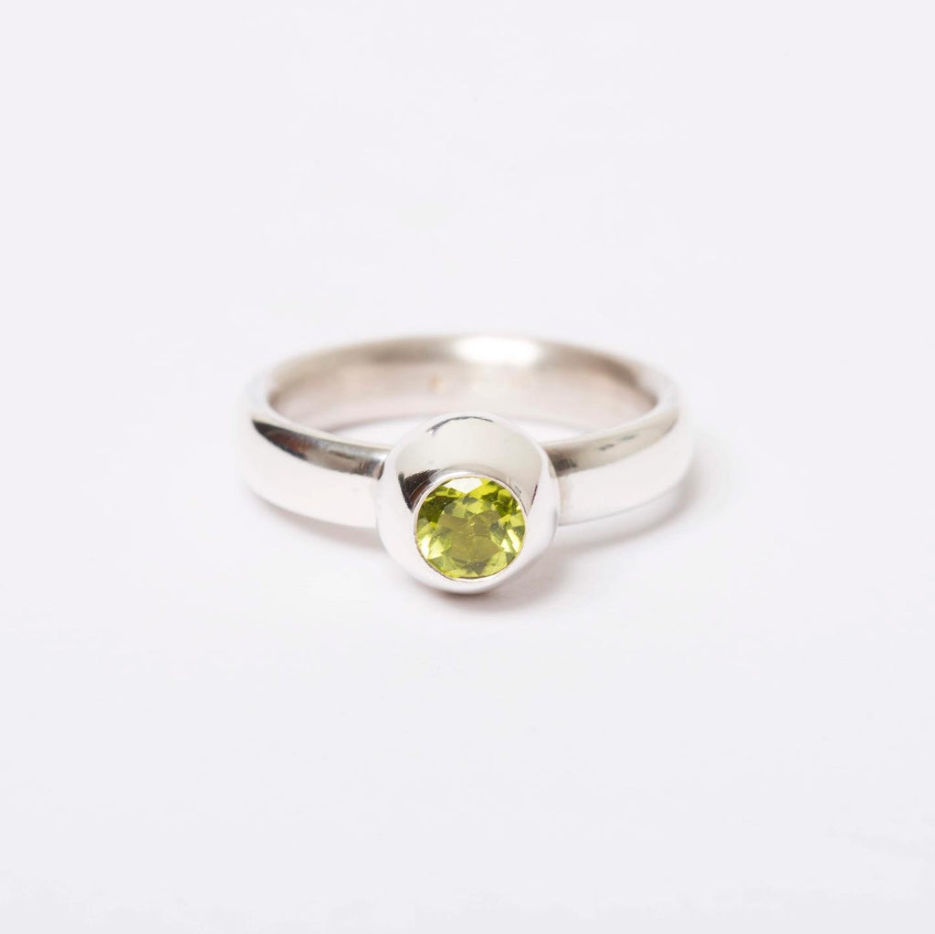 Peridot Large Honey Pot Ring