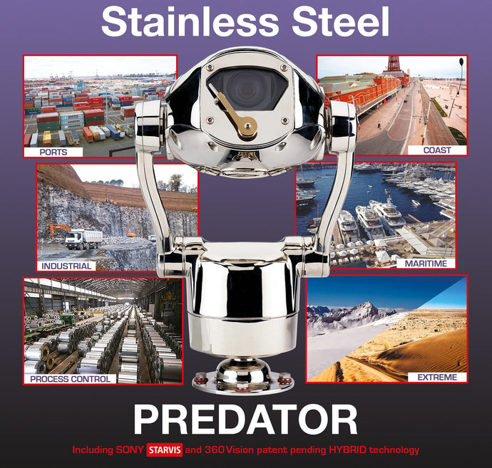 360 PREDATOR STEEL Ultra Rugged Stainless Steel HD PTZ Camera