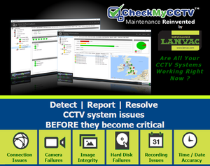 CheckMyCCTV Automated CCTV System Status Monitoring Cloud Service by LANVAC - FREE TRIAL