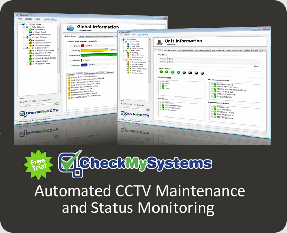 CheckMyCCTV Cloud Hosted Automated CCTV System Status Monitoring Service