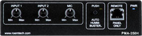 Roemtech PMA345H Plenum Rated Stereo Amp/Mixer w/ built-in Hummbuster