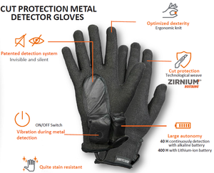 Scanforce Invisible Metal Detector Gloves