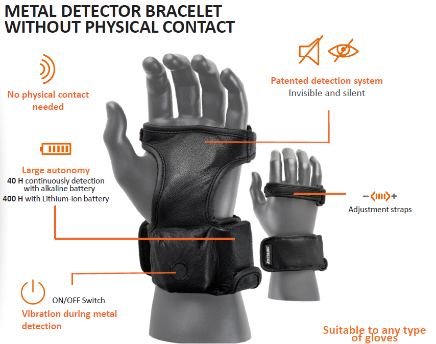Scanforce Invisible Metal Detector Bracelet [B-STOCK]