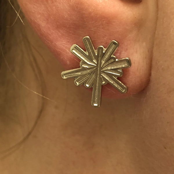 Nickel Stud Logo Earrings