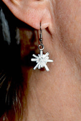 Nickel Dangle Logo Earrings