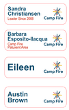 Camp Fire Staff/Volunteer Name Tag