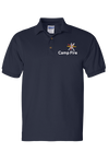 Camp Fire Embroidered Polo - Navy