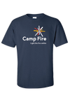 Camp Fire Logo T-Shirt - Navy