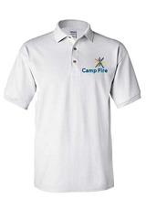 Camp Fire Embroidered Polo - White