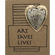 Art Saves Lives Pendant by Lesley Aine McKeown