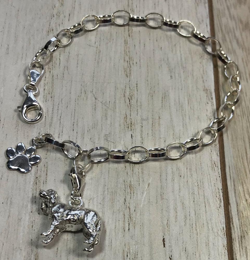 Perro pooch sterling silver complete dog Bracelet by Lorena Silver Jewellery silver dog charm